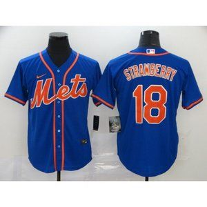 New York Mets Darryl Strawberry Blue Game Jersey